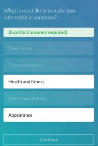 A shot of eharmony personality test