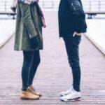A guy approaching a girl