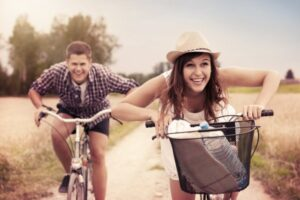 A man having fun with a girl