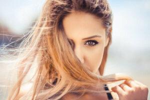 A shot of a beautiful woman